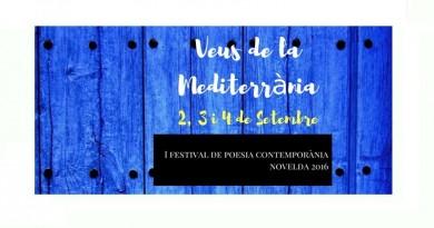 """Programació del Festival de Poesia Contemporània de Novelda """"Veus de la Mediterrània"""""""