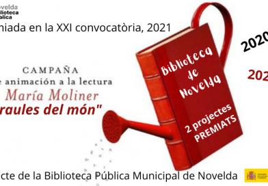 La Biblioteca Pública de Novelda premiada per la campanya d'animació a la lectura «Maria Moliner, 2021»