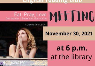 The Book Club begins a new book «Eat, Pray, Love», by Elizabeth Gilbert