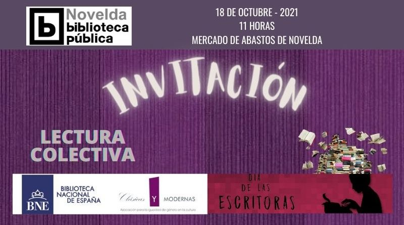La Biblioteca de Novelda s'unix a la celebració del «Día de les Escritoras»